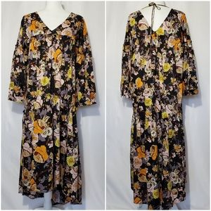 Who What Wear Garden Floral High-Low Maxi Dress